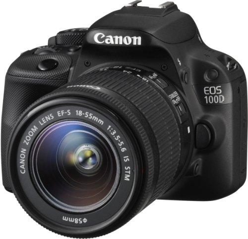 Canon EOS 100D SLR-Digitalkamera (18 Megapixel, 7,6 cm (3 Zoll) Touchscreen, Full HD, Live-View) Kit inkl. EF-S 18-55mm 1:3,5-5,6 IS STM - 1