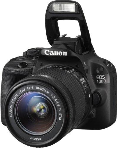 Canon EOS 100D SLR-Digitalkamera (18 Megapixel, 7,6 cm (3 Zoll) Touchscreen, Full HD, Live-View) Kit inkl. EF-S 18-55mm 1:3,5-5,6 IS STM - 4