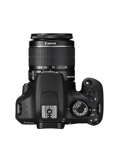 Canon EOS 1200D SLR-Digitalkamera (18 Megapixel APS-C CMOS-Sensor, 7,5 cm (3 Zoll) LCD-Display, Full HD) Kit inkl. 18-55mm IS Objektiv schwarz - 4