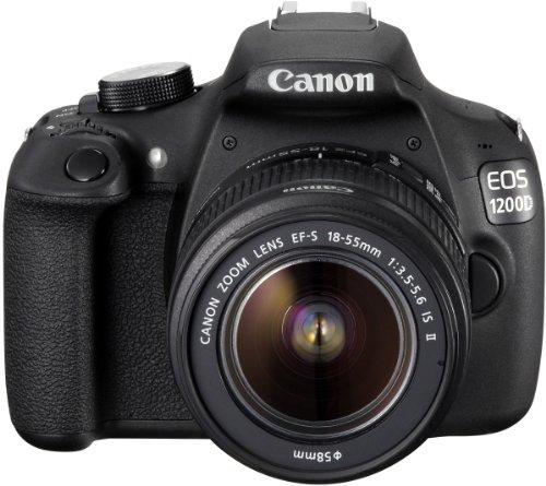 Canon EOS 1200D SLR-Digitalkamera (18 Megapixel APS-C CMOS-Sensor, 7,5 cm (3 Zoll) LCD-Display, Full HD) Kit inkl. 18-55mm IS Objektiv schwarz - 5