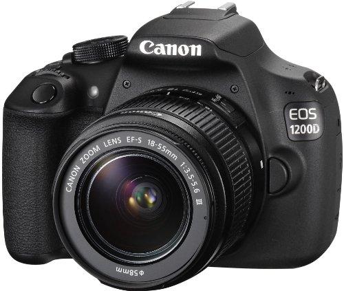 Canon EOS 1200D SLR-Digitalkamera (18 Megapixel APS-C CMOS-Sensor, 7,5 cm (3 Zoll) LCD-Display, Full HD) nur Gehäuse schwarz - 12