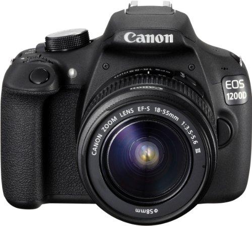 Canon EOS 1200D SLR-Digitalkamera (18 Megapixel APS-C CMOS-Sensor, 7,5 cm (3 Zoll) LCD-Display, Full HD) nur Gehäuse schwarz - 6