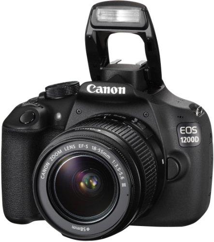 Canon EOS 1200D SLR-Digitalkamera (18 Megapixel APS-C CMOS-Sensor, 7,5 cm (3 Zoll) LCD-Display, Full HD) nur Gehäuse schwarz - 9