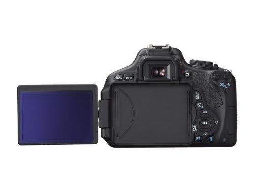 Canon EOS 600D SLR-Digitalkamera (18 Megapixel, 7,6 cm (3 Zoll) schwenkbares Display, Full HD) Gehäuse - 1