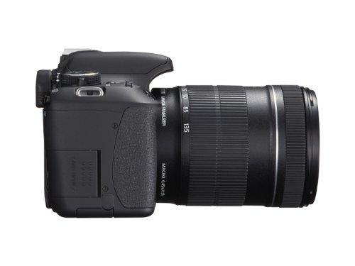 Canon EOS 600D SLR-Digitalkamera (18 Megapixel, 7,6 cm (3 Zoll) schwenkbares Display, Full HD) Kit inkl. EF-S 18-135mm 1:3,5-5,6 IS - 12