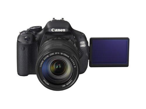 Canon EOS 600D SLR-Digitalkamera (18 Megapixel, 7,6 cm (3 Zoll) schwenkbares Display, Full HD) Kit inkl. EF-S 18-135mm 1:3,5-5,6 IS - 9