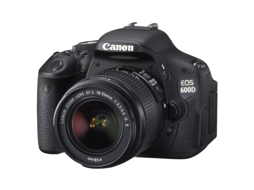 Canon EOS 600D SLR-Digitalkamera (18 Megapixel, 7,6 cm (3 Zoll) schwenkbares Display, Full HD) Kit inkl. EF-S 18-55mm 1:3,5-5,6 IS II - 1