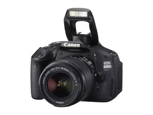 Canon EOS 600D SLR-Digitalkamera (18 Megapixel, 7,6 cm (3 Zoll) schwenkbares Display, Full HD) Kit inkl. EF-S 18-55mm 1:3,5-5,6 IS II - 7