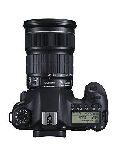Canon EOS 6D SLR-Digitalkamera (20,2 Megapixel, CMOS-Vollformatsensor, 7,6 cm (3 Zoll) Display, Full-HD) Kit inkl. 24-105 mm IS STM, schwarz - 3