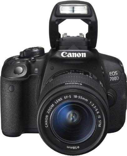 Canon EOS 700D Digital SLR-Kamera (18 Megapixel, 7,6 cm (3 Zoll) Display, Full HD, DIGIC 5) inkl. EF 18-55mm IS STM und EF 55-250mm IS STM Double-Zoom-Kit schwarz - 10