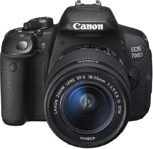 Canon EOS 700D Digital SLR-Kamera (18 Megapixel, 7,6 cm (3 Zoll) Display, Full HD, DIGIC 5) inkl. EF 18-55mm IS STM und EF 55-250mm IS STM Double-Zoom-Kit schwarz - 9