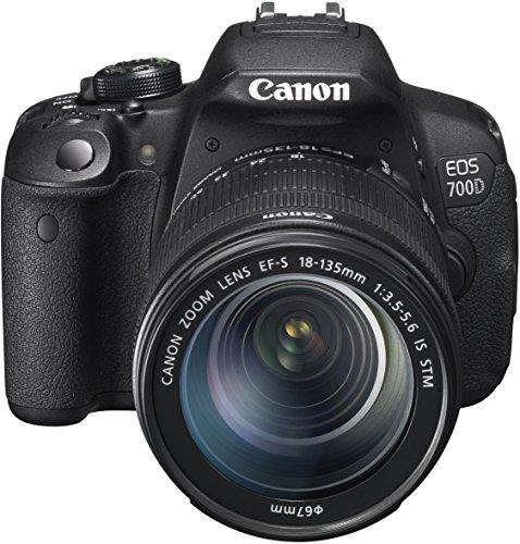 Canon EOS 700D SLR-Digitalkamera (18 Megapixel, 7,6 cm (3 Zoll) Touchscreen, Full HD, Live-View) Kit inkl. EF-S 18-135mm 1:3,5-5,6 IS STM - 1