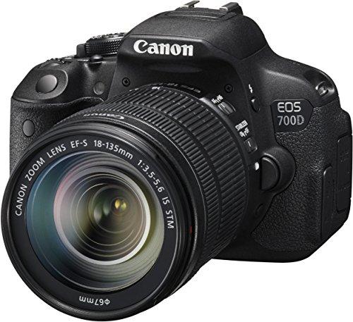 Canon EOS 700D SLR-Digitalkamera (18 Megapixel, 7,6 cm (3 Zoll) Touchscreen, Full HD, Live-View) Kit inkl. EF-S 18-135mm 1:3,5-5,6 IS STM - 3