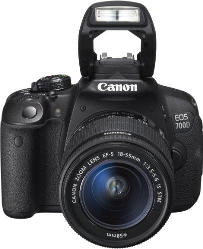 Canon EOS 700D SLR-Digitalkamera (18 Megapixel, 7,6 cm (3 Zoll) Touchscreen, Full HD, Live-View) Kit inkl. EF-S 18-55mm 1:3,5-5,6 IS STM - 1