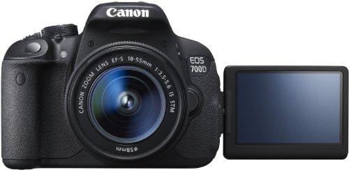 Canon EOS 700D SLR-Digitalkamera (18 Megapixel, 7,6 cm (3 Zoll) Touchscreen, Full HD, Live-View) Kit inkl. EF-S 18-55mm 1:3,5-5,6 IS STM - 3