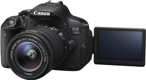 Canon EOS 700D SLR-Digitalkamera (18 Megapixel, 7,6 cm (3 Zoll) Touchscreen, Full HD, Live-View) Kit inkl. EF-S 18-55mm 1:3,5-5,6 IS STM - 5
