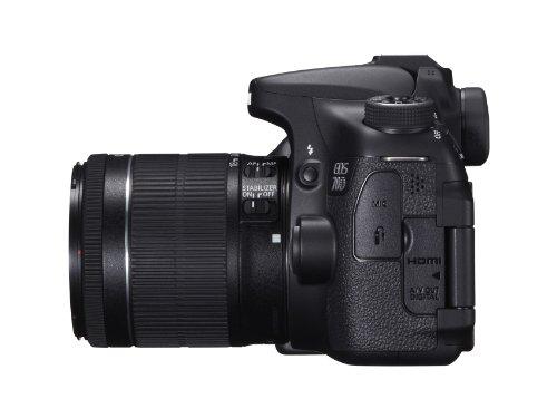 Canon EOS 70D SLR-Digitalkamera (20 Megapixel APS-C CMOS Sensor, 7,6 cm (3 Zoll) Display, Full HD, WiFi, DIGIC 5+ Prozessor) inkl. EF-S 18-55mm 1:3,5-5,6 IS STM Objektiv schwarz - 5