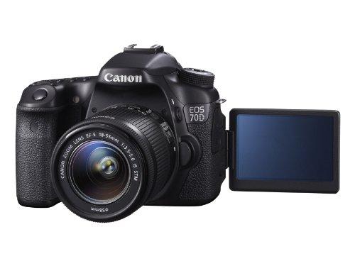Canon EOS 70D SLR-Digitalkamera (20 Megapixel APS-C CMOS Sensor, 7,6 cm (3 Zoll) Display, Full HD, WiFi, DIGIC 5+ Prozessor) inkl. EF-S 18-55mm 1:3,5-5,6 IS STM Objektiv schwarz - 7