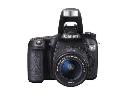 Canon EOS 70D SLR-Digitalkamera (20 Megapixel APS-C CMOS Sensor, 7,6 cm (3 Zoll) Display, Full HD, WiFi, DIGIC 5+ Prozessor) inkl. EF-S 18-55mm 1:3,5-5,6 IS STM Objektiv schwarz - 8