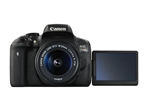 Canon EOS 750D SLR-Digitalkamera (24 Megapixel, APS-C CMOS-Sensor, WiFi, NFC, Full-HD) Kit inkl. EF-S 18-55 mm IS STM Objektiv schwarz - 2
