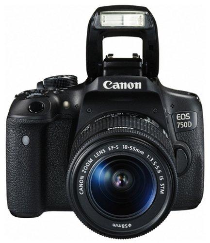 Canon EOS 750D SLR-Digitalkamera (24 Megapixel, APS-C CMOS-Sensor, WiFi, NFC, Full-HD) Kit inkl. EF-S 18-55 mm IS STM Objektiv schwarz - 3