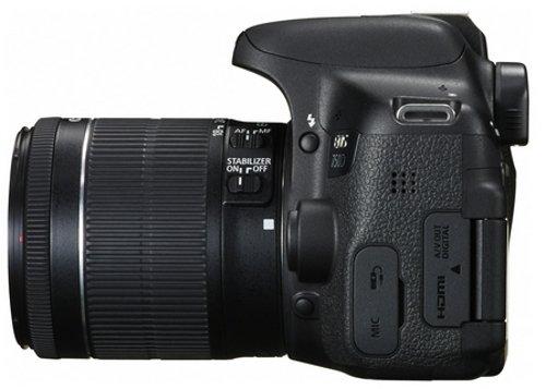 Canon EOS 750D SLR-Digitalkamera (24 Megapixel, APS-C CMOS-Sensor, WiFi, NFC, Full-HD) Kit inkl. EF-S 18-55 mm IS STM Objektiv schwarz - 4