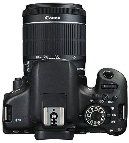 Canon EOS 750D SLR-Digitalkamera (24 Megapixel, APS-C CMOS-Sensor, WiFi, NFC, Full-HD) Kit inkl. EF-S 18-55 mm IS STM Objektiv schwarz - 5