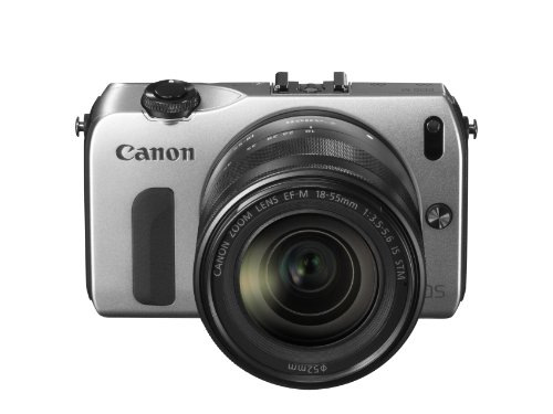 Canon EOS M kompakte Systemkamera (18 Megapixel, 7,6 cm (3 Zoll) Display, Full HD, Touch-Display) Kit inkl. EF-M 18-55mm 1:3,5-5,6 IS STM und Speedlite 90EX silber - 1