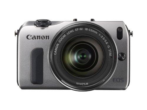 Canon EOS M kompakte Systemkamera (18 Megapixel, 7,6 cm (3 Zoll) Display, Full HD, Touch-Display) Kit inkl. EF-M 18-55mm 1:3,5-5,6 IS STM und Speedlite 90EX silber - 4