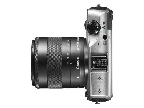 Canon EOS M kompakte Systemkamera (18 Megapixel, 7,6 cm (3 Zoll) Display, Full HD, Touch-Display) Kit inkl. EF-M 18-55mm 1:3,5-5,6 IS STM und Speedlite 90EX silber - 5