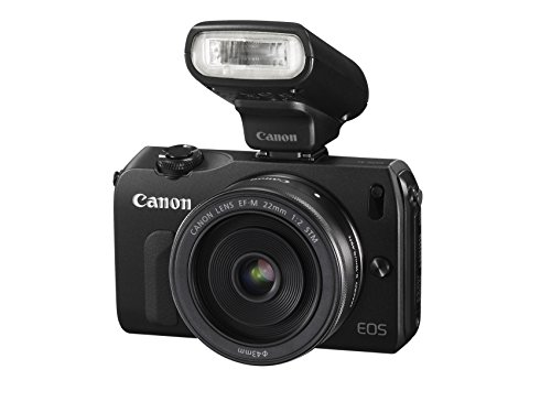 Canon EOS M kompakte Systemkamera (18 Megapixel, 7,6 cm (3 Zoll) Display, Full HD, Touch-Display) Kit inkl. EF-M 22mm 1:2 STM Pancake-Objektiv, Speedlite 90EX und Mount Adapter EF-EOS M schwarz - 2