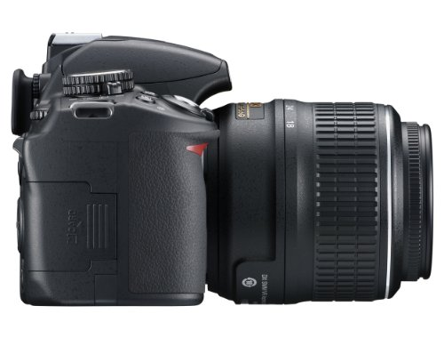 Nikon D3100 SLR-Digitalkamera (14 Megapixel, Live View, Full-HD-Videofunktion) Kit inkl. AF-S DX 18-55 VR Objektiv schwarz - 5