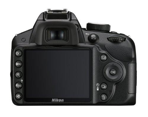 Nikon D3200 SLR-Digitalkamera (24 Megapixel, 7,4 cm (2,9 Zoll) Display, Live View, Full-HD) Kit inkl. AF-S DX 18-105 VR Objektiv schwarz - 1