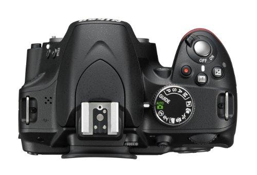 Nikon D3200 SLR-Digitalkamera (24 Megapixel, 7,4 cm (2,9 Zoll) Display, Live View, Full-HD) Kit inkl. AF-S DX 18-105 VR Objektiv schwarz - 2