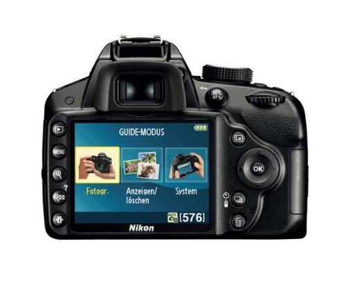 Nikon D3200 SLR-Digitalkamera (24 Megapixel, 7,4 cm (2,9 Zoll) Display, Live View, Full-HD) Kit inkl. AF-S DX 18-105 VR Objektiv schwarz - 3