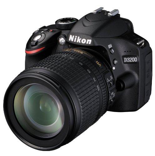 Nikon D3200 SLR-Digitalkamera (24 Megapixel, 7,4 cm (2,9 Zoll) Display, Live View, Full-HD) Kit inkl. AF-S DX 18-105 VR Objektiv schwarz - 5