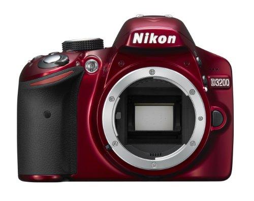 Nikon D3200 SLR-Digitalkamera (24 Megapixel, 7,4 cm (2,9 Zoll) Display, Live View, Full-HD) Kit inkl. AF-S DX 18-55 VR II Objektiv rot - 2