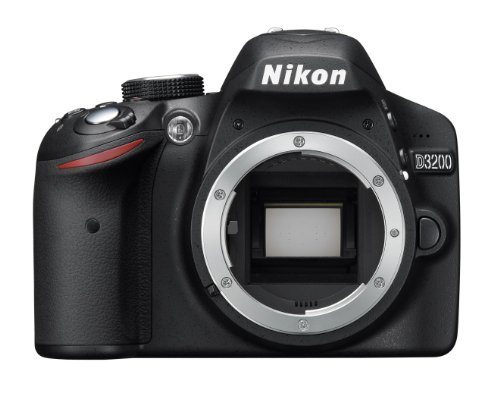 Nikon D3200 SLR-Digitalkamera (24 Megapixel, 7,4 cm (2,9 Zoll) Display, Live View, Full-HD) Kit inkl. AF-S DX 18-55 VR II Objektiv schwarz - 2
