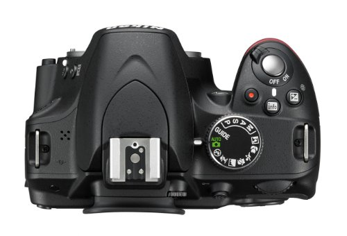 Nikon D3200 SLR-Digitalkamera (24 Megapixel, 7,4 cm (2,9 Zoll) Display, Live View, Full-HD) Kit inkl. AF-S DX 18-55 VR II Objektiv schwarz - 4