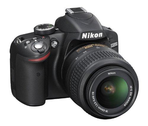 Nikon D3200 SLR-Digitalkamera (24 Megapixel, 7,4 cm (2,9 Zoll) Display, Live View, Full-HD) Kit inkl. AF-S DX 18-55 VR Objektiv schwarz - 2