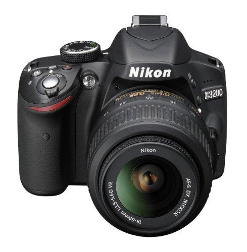 Nikon D3200 SLR-Digitalkamera (24 Megapixel, 7,4 cm (2,9 Zoll) Display, Live View, Full-HD) Kit inkl. AF-S DX 18-55 VR Objektiv schwarz - 3