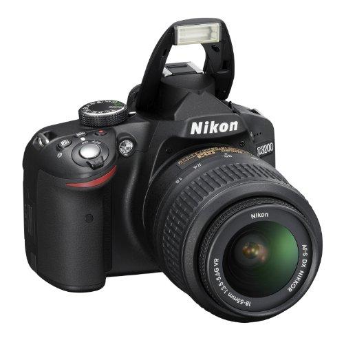Nikon D3200 SLR-Digitalkamera (24 Megapixel, 7,4 cm (2,9 Zoll) Display, Live View, Full-HD) Kit inkl. AF-S DX 18-55 VR Objektiv schwarz - 5