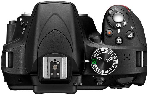 Nikon D3300 SLR-Digitalkamera (24 Megapixel, 7,6 cm (3 Zoll) TFT-LCD-Display, Live View, Full-HD) nur Gehäuse schwarz - 1