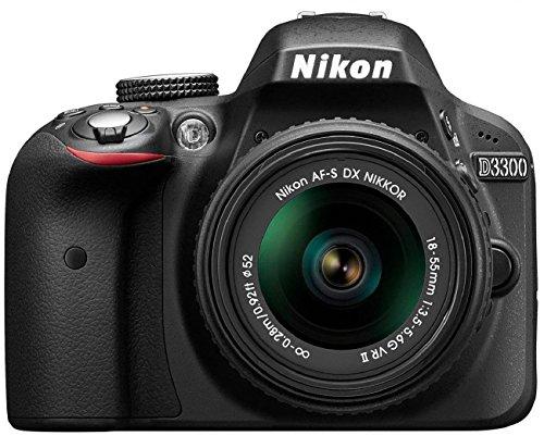 Nikon D3300 SLR-Digitalkamera (24 Megapixel, 7,6 cm (3 Zoll) TFT-LCD-Display, Live View, Full-HD) nur Gehäuse schwarz - 2