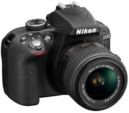 Nikon D3300 SLR-Digitalkamera Kit (24 Megapixel, 7,6 cm (3 Zoll) TFT-LCD-Display, Live View, Full-HD) inkl. AF-S DX 18-55 VR II Objektiv schwarz - 2