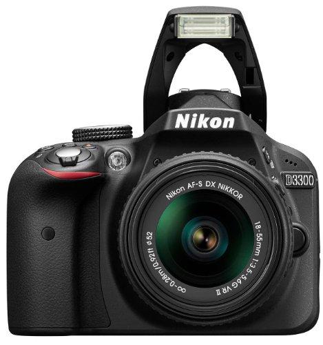 Nikon D3300 SLR-Digitalkamera Kit (24 Megapixel, 7,6 cm (3 Zoll) TFT-LCD-Display, Live View, Full-HD) inkl. AF-S DX 18-55 VR II Objektiv schwarz - 4