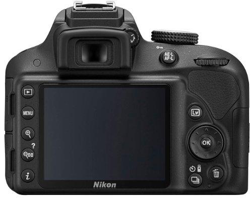Nikon D3300 SLR-Digitalkamera Kit (24 Megapixel, 7,6 cm (3 Zoll) TFT-LCD-Display, Live View, Full-HD) inkl. AF-S DX 18-55 VR II Objektiv schwarz - 6