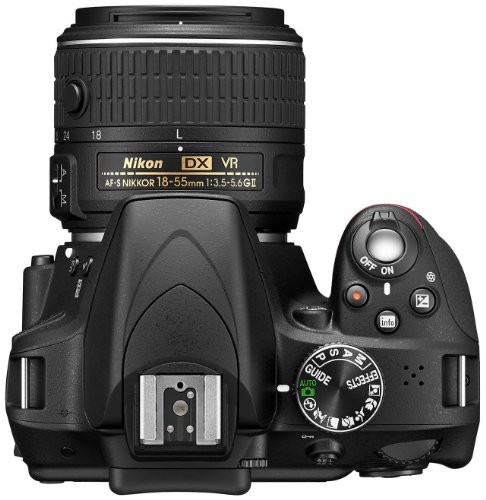 Nikon D3300 SLR-Digitalkamera Kit (24 Megapixel, 7,6 cm (3 Zoll) TFT-LCD-Display, Live View, Full-HD) inkl. AF-S DX 18-55 VR II Objektiv schwarz - 7