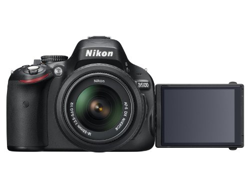 Nikon D5100 SLR-Digitalkamera (16 Megapixel, 7.5 cm (3 Zoll) schwenk- und drehbarer Monitor, Live-View, Full-HD-Videofunktion) Gehäuse - 5