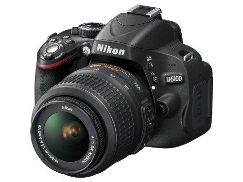 Nikon D5100 SLR-Digitalkamera (16 Megapixel, 7.5 cm (3 Zoll) schwenk- und drehbarer Monitor, Live-View, Full-HD-Videofunktion) Kit inkl. AF-S DX 18-55 mm VR (bildstb.) - 2